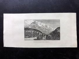 Phillips (Pub) 1823 Print. Mont Blanc from the Valley of Chamouni, France